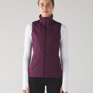Lululemon Athletica Run for Cold Vest Plum Size 2